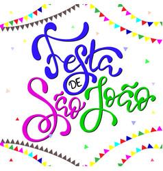 festa de sao joao brazilian traditional fest vector image