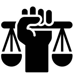 Fist with scale icon protest related vector