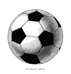 football hand draw vintage style black and white vector image