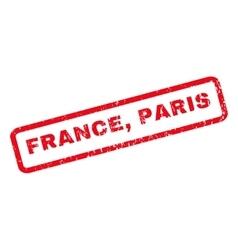 France Paris Rubber Stamp vector image