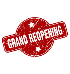 Grand reopening vector