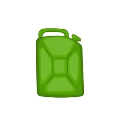 Green fuel canister icon cartoon style vector image