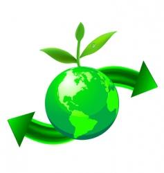 Green globe vector