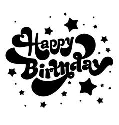 Happy birthday logo vector