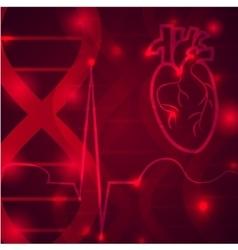 Heart pulse banner vector