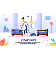 hotel room cleaning service flat banner vector image