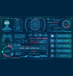 hud user interface gui futuristic panel vector image