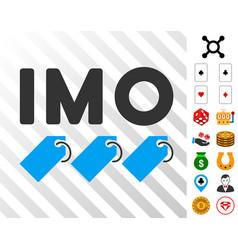 Imo tags icon with bonus vector