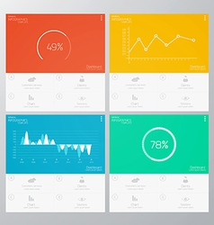 infographics flat design vector image