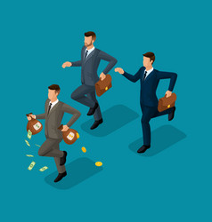 isometric business creation career growth vector image