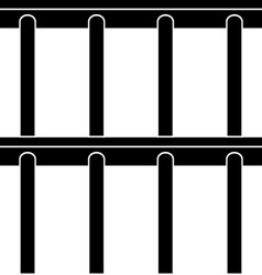 Jail bars black symbol seamless background vector