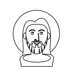 jesus christ catholic symbol outline vector image