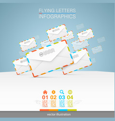 Letters on a white background vector