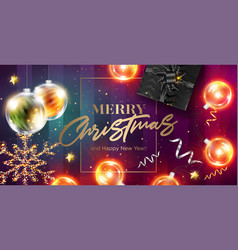 merry christmas card happy new year 2019 vector image