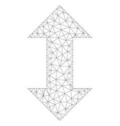 Mesh vertical exchange arrows icon vector
