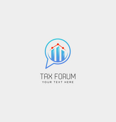 Message chat forum accounting financial logo vector