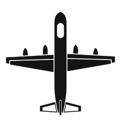 Military plane icon simple style vector