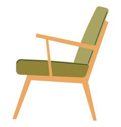 Minimalist chair for home interior design vector