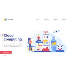 modern cloud computing technology landing page vector image