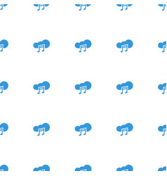 music cloud icon pattern seamless white background vector image