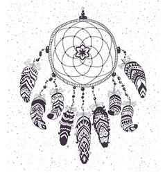 Native american indian talisman dreamcatcher vector