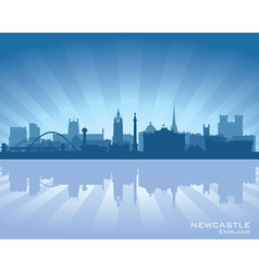 Newcastle England skyline vector