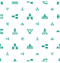 organisation icons pattern seamless white vector image
