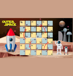 Outer space board game vector