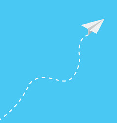 paper plane icon isometric style vector image