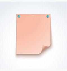 pink blank post note paper sheet vector image