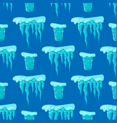 realistic ice caps snowdrifts seamless pattern vector image