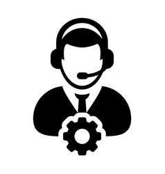 Service icon male operator person profile avatar vector
