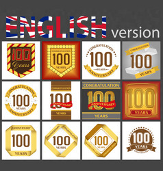 Set number 100 templates vector