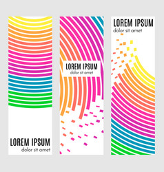 set of abstract vertical header banners vector image