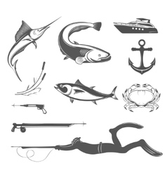 Set of Icons and Signs of Equipment for vector