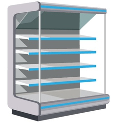 Showcase with empty shelves vector