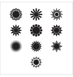 Silhouette sun 4 vector