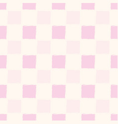 Simple hand drawn pastel pink gingham vector