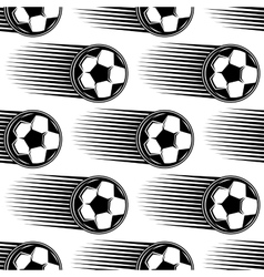 Speeding soccer ball seamless pattern vector
