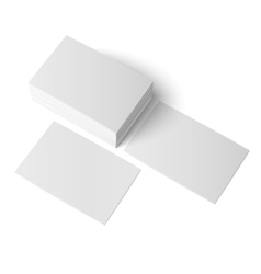 stack blank business card vector image