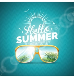 Summer holiday with sunglasses vector