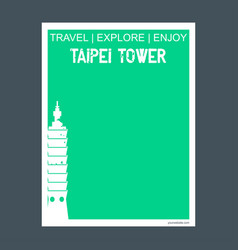 taipei tower taiwan monument landmark brochure vector image