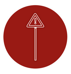 Traffic signal alert symbol vector