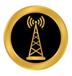 transmitter button on white vector image