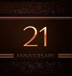 Twenty one years anniversary celebration logotype vector