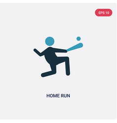 Two color home run icon from sports concept vector