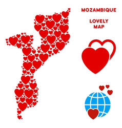 valentine mozambique map composition of vector image