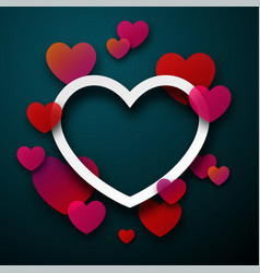 valentine s card with hearts vector image