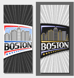 vertical layouts for boston vector image