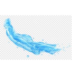 water jet or splash vector image